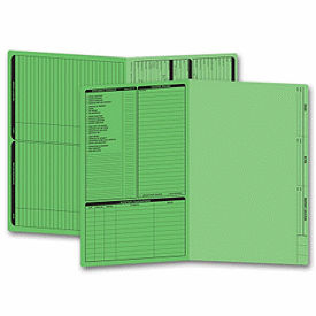 Real Estate Folder, Left Panel List, Legal Size, Green (Item #286G) - Business Checks Supplies  - Business Checks