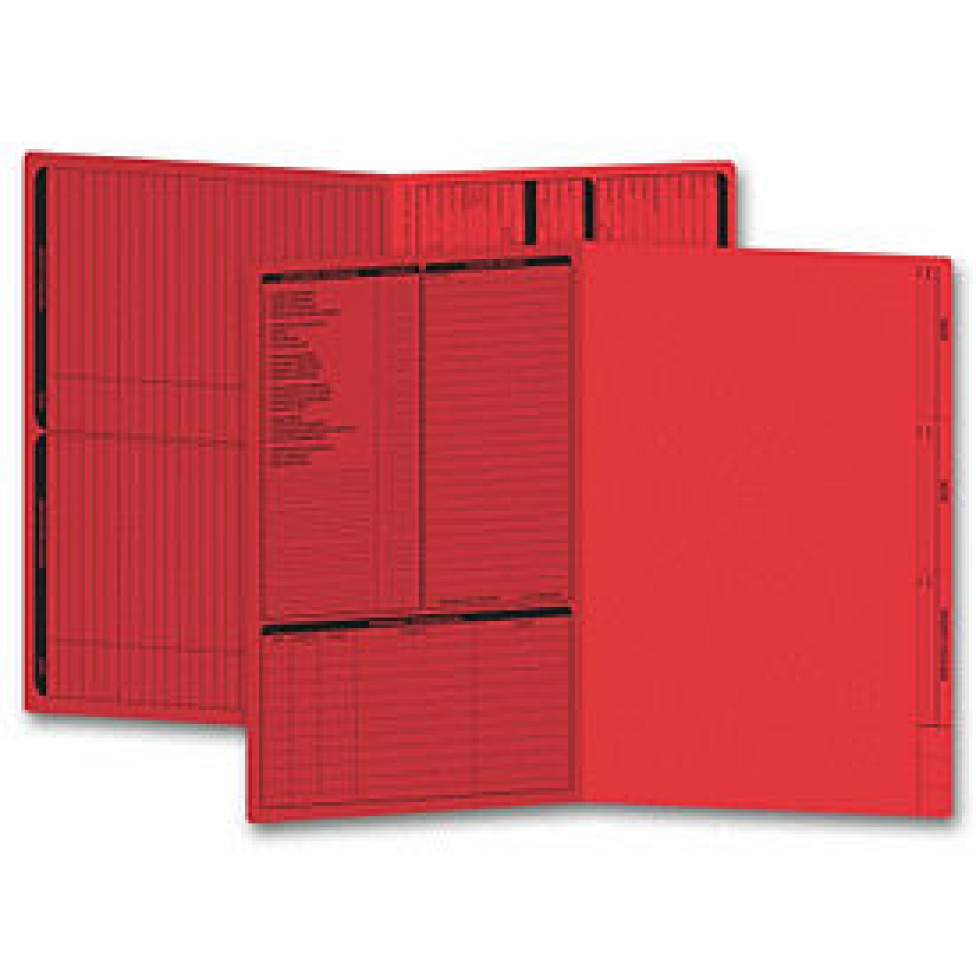 Real Estate Folder, Left Panel List, Legal Size, Red