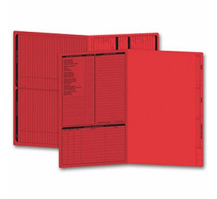 Real Estate Folder, Left Panel List, Legal Size, Red (Item #286R) - Business Checks Supplies  - Business Checks