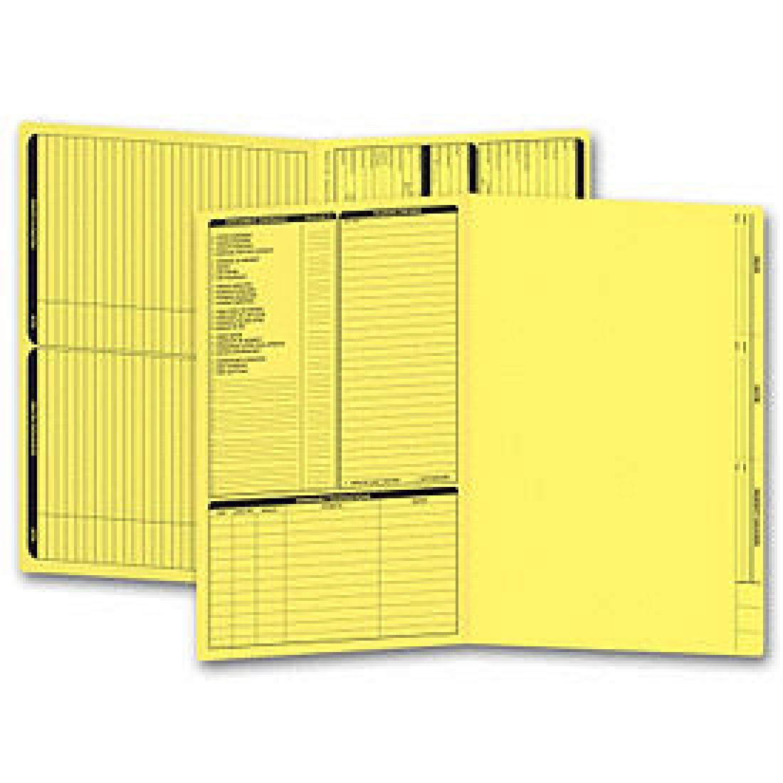 Real Estate Folder, Left Panel List, Legal Size, Yellow