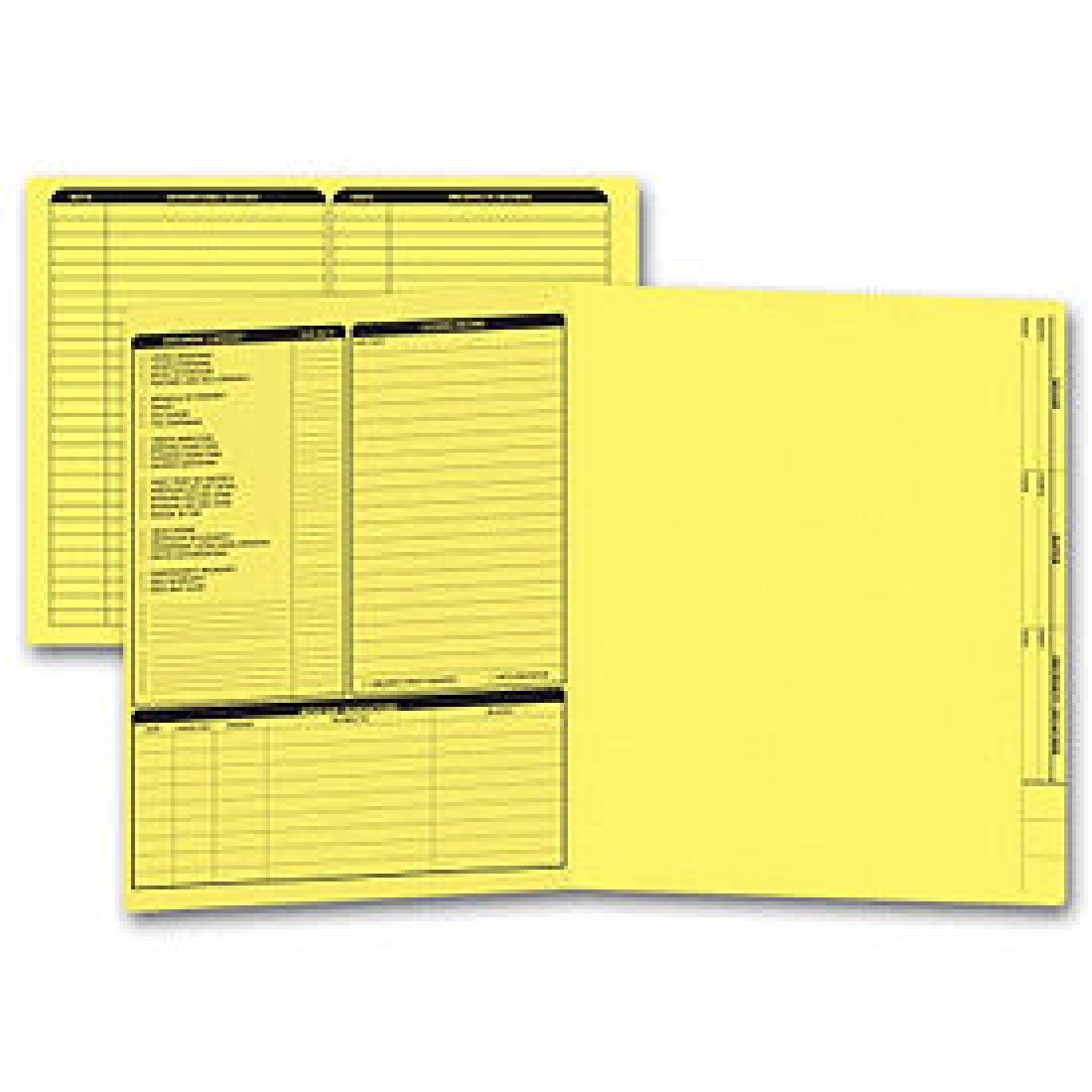 Real Estate Folder, Left Panel List, Letter Size, Yellow