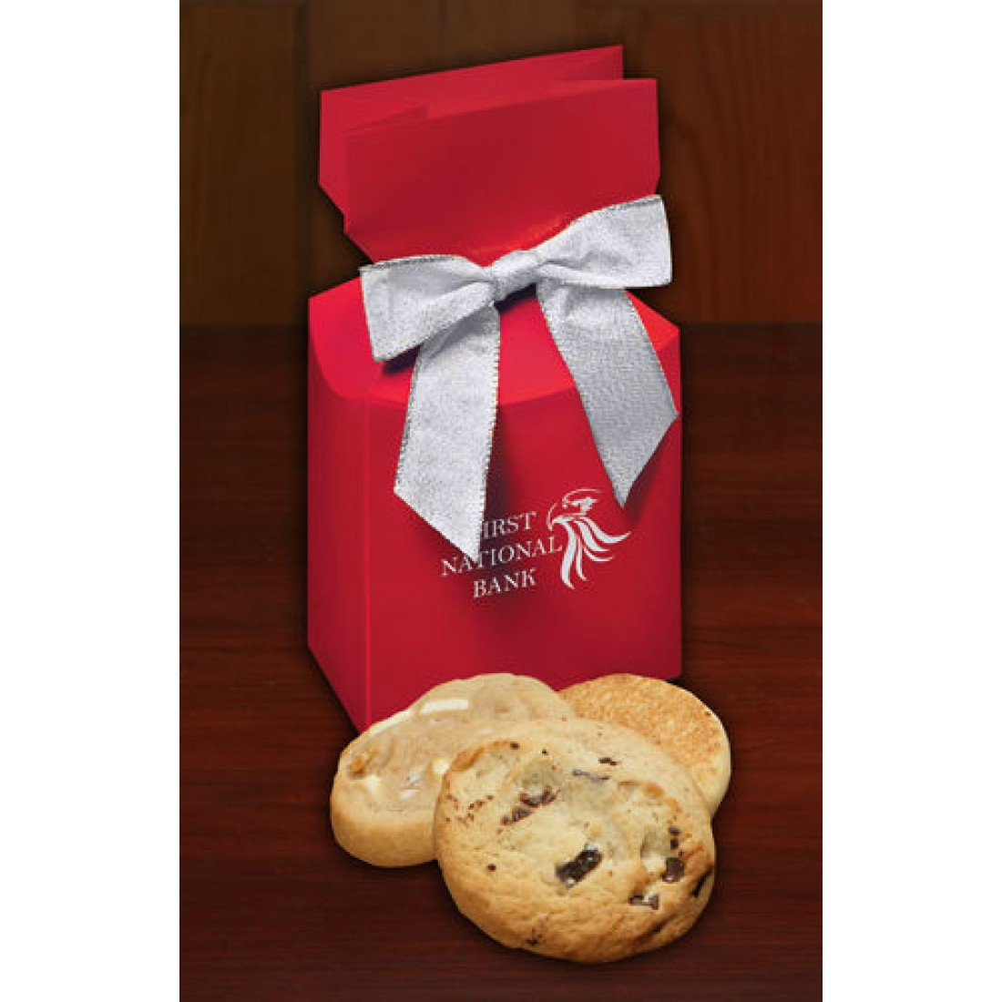 Red Custom Boxes with Gourmet Cookies