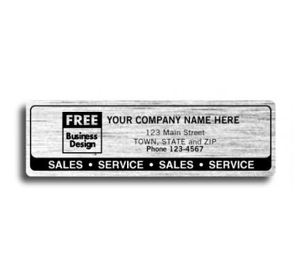 Resistant Chrome Sales Service Labels