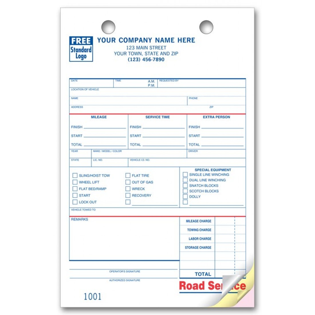 road service towing register forms free shipping. Black Bedroom Furniture Sets. Home Design Ideas