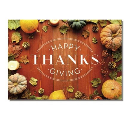 Rustic Bounty Thanksgiving Cards