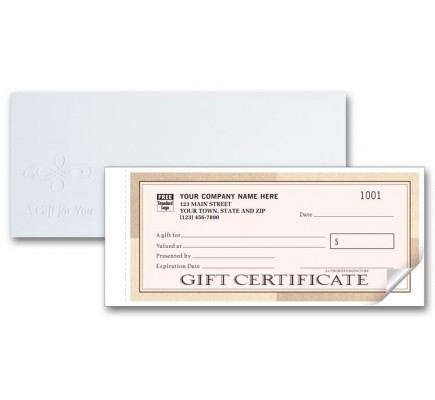 Santa Fe Customized Gift Certificate Forms