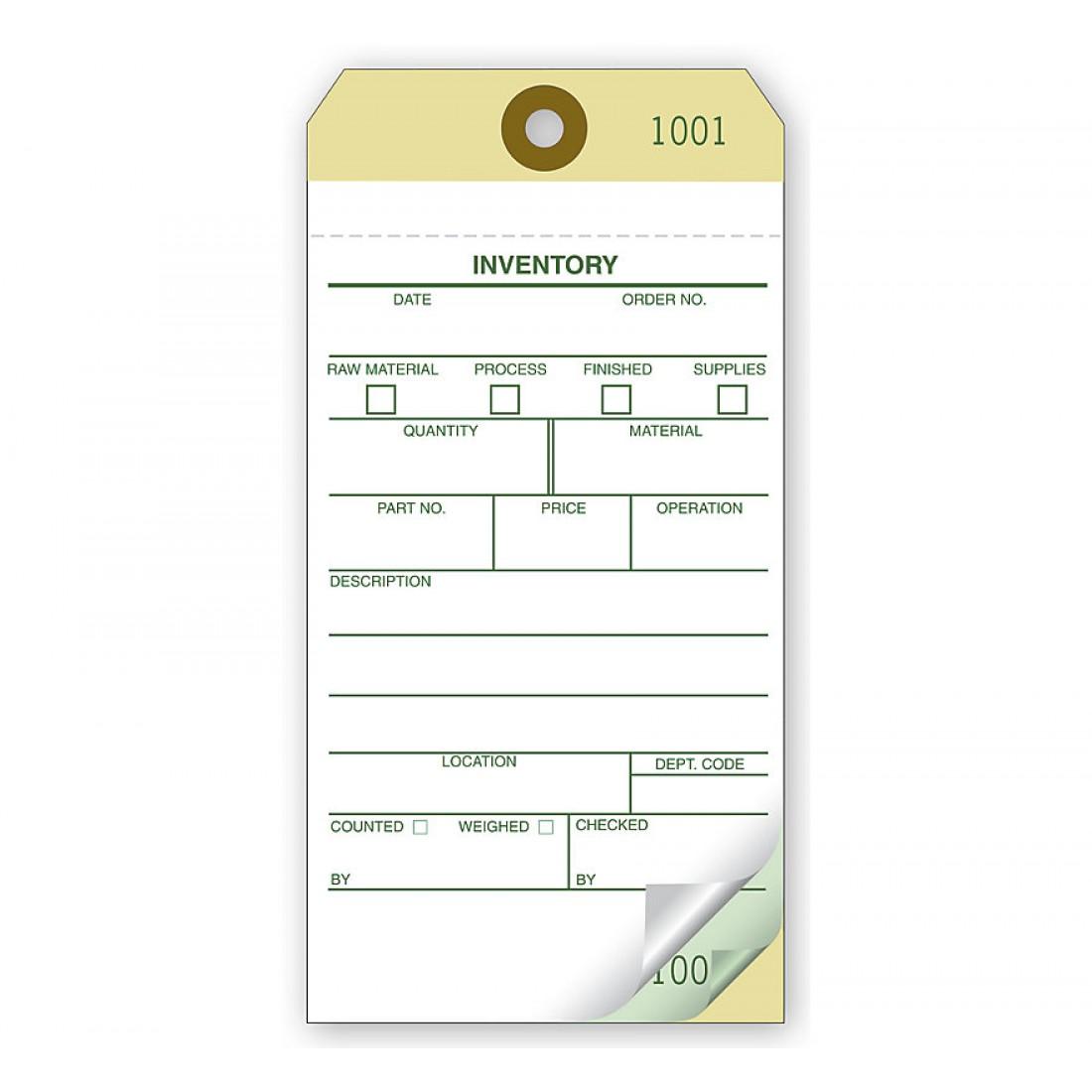 Self Adhesive Inventory Tags