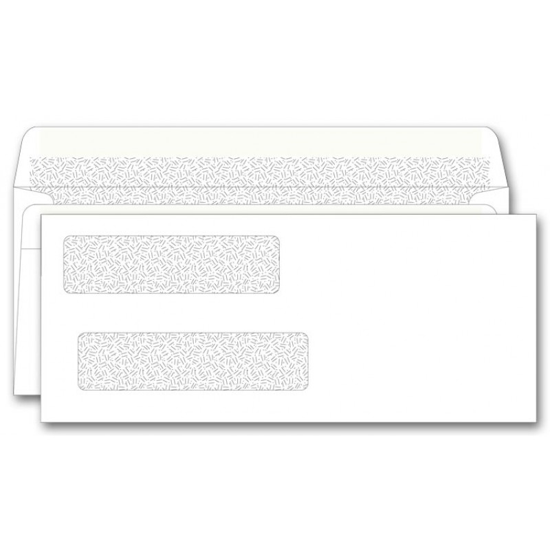 Self Seal Double Window Envelopes