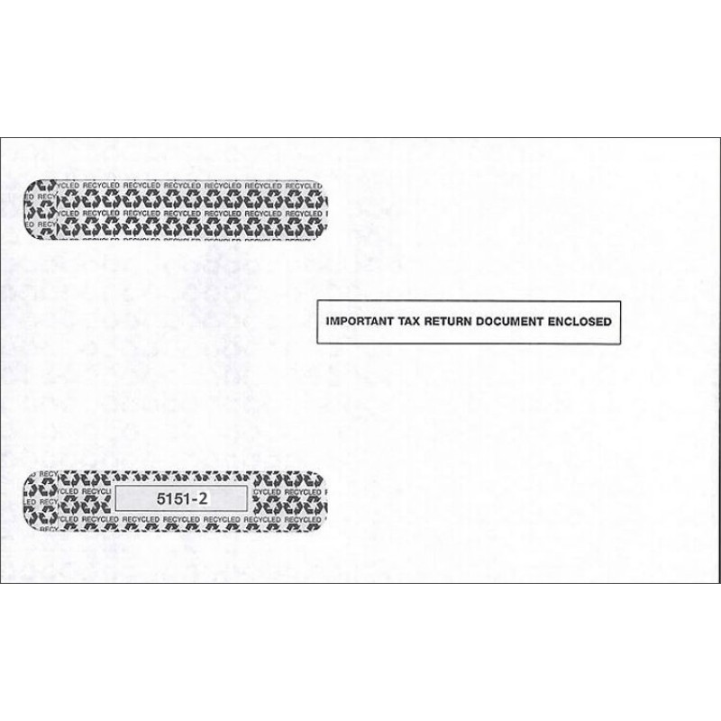 Self seal window envelope w 2 tax form free shipping for 2 window envelope