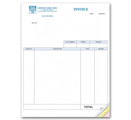 Service Invoices, Laser, Classic