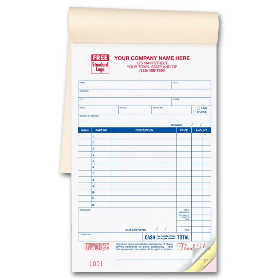 Service Order Invoice Books