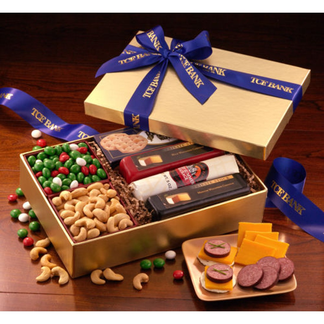 Shelf-Stable Smorgasbord  (CR206) - Cheese & Sausage  - Promotional Food Gifts