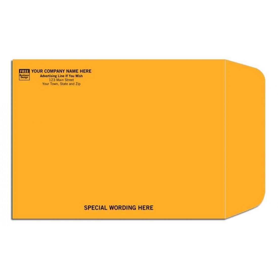 Short End Flap Kraft Envelopes