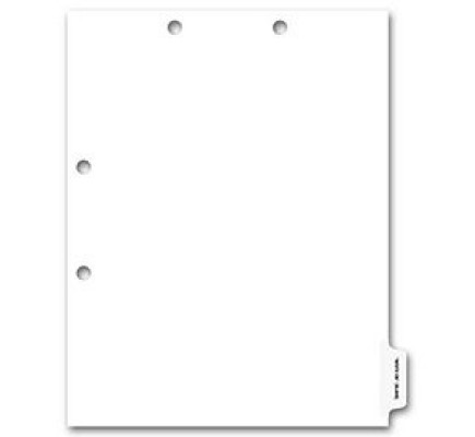 Side Tab Chart File Divider, Blank Write-On, Clear Tab