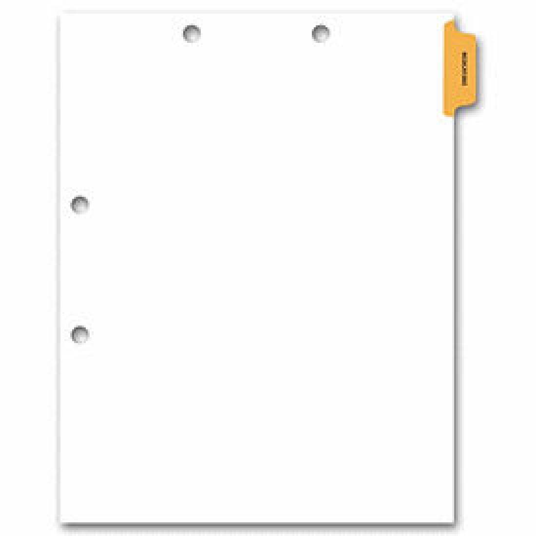 Side Tab Chart File Divider