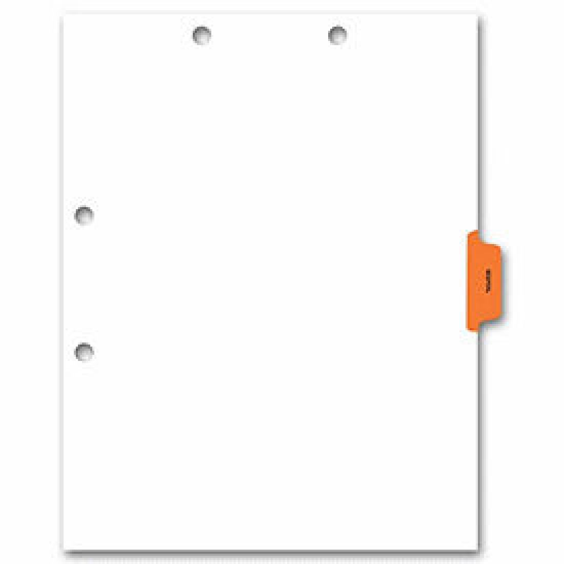 Side Tab Chart File Divider, Hospital Tab