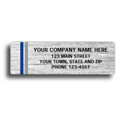 Silver Polyester Small Labels