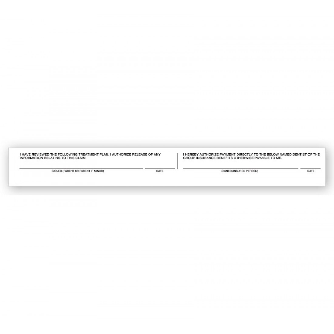 Simplified Claim Form Signature Release Labels