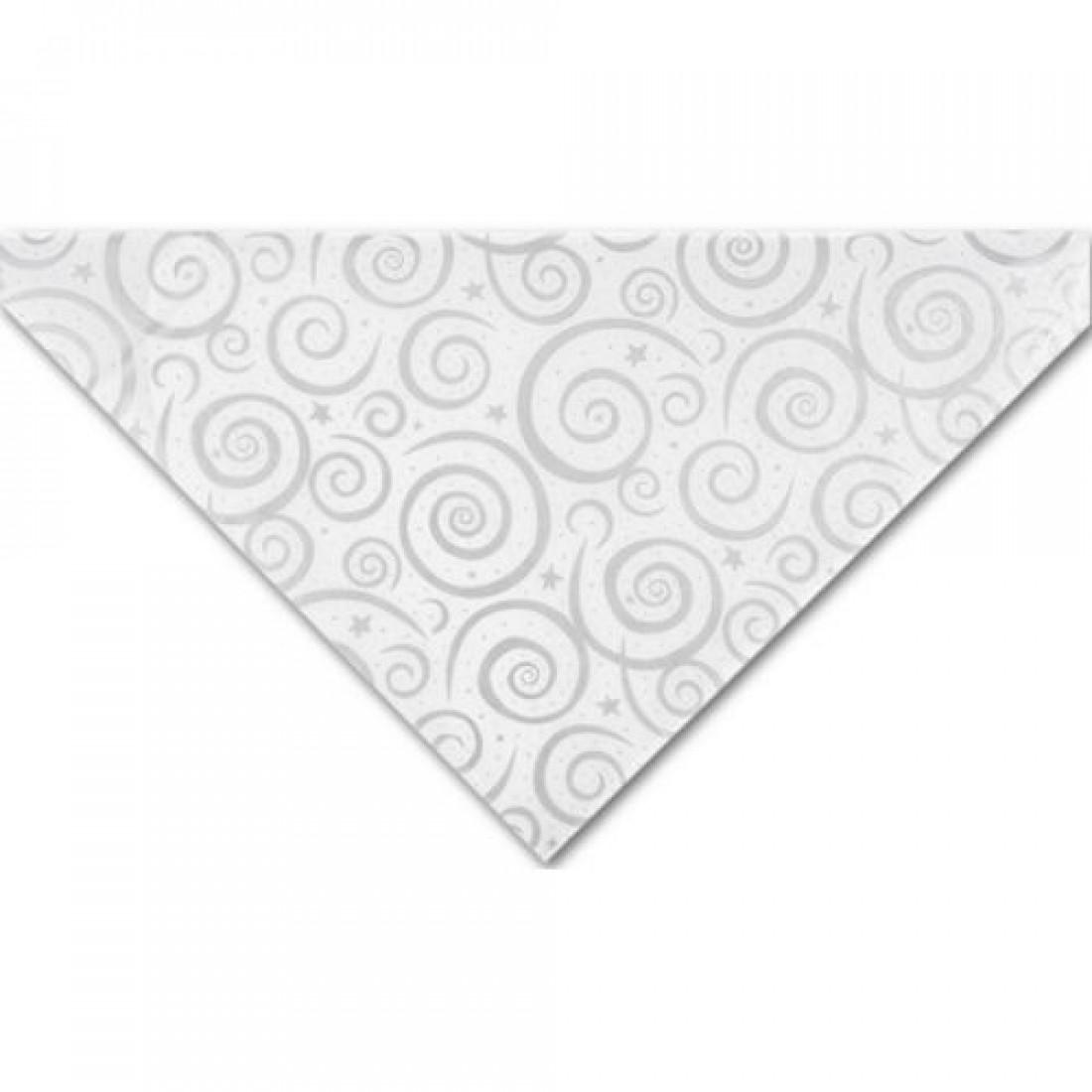 Slvr Swirls/Wht Tissue 20x30
