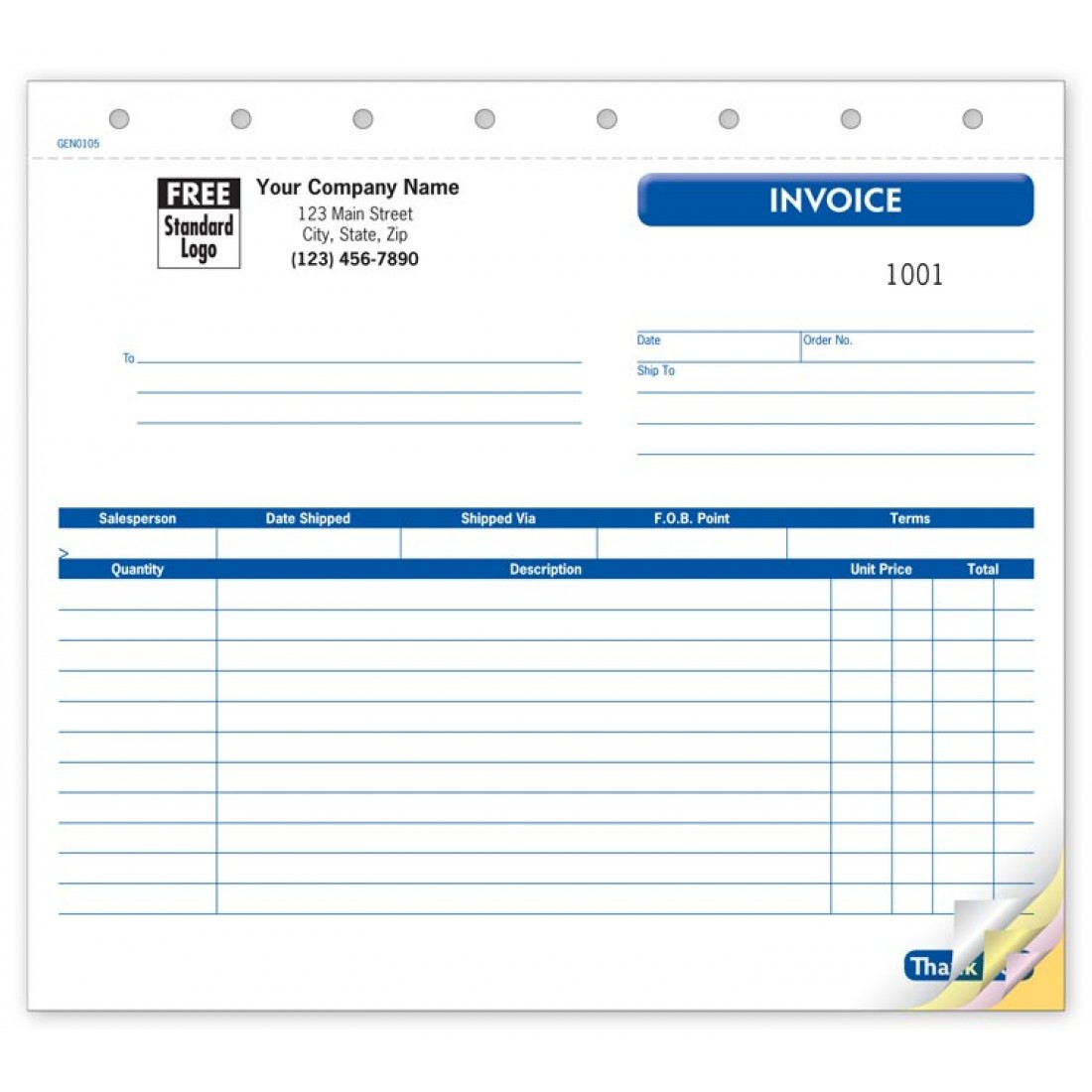 Small General Shipping Forms