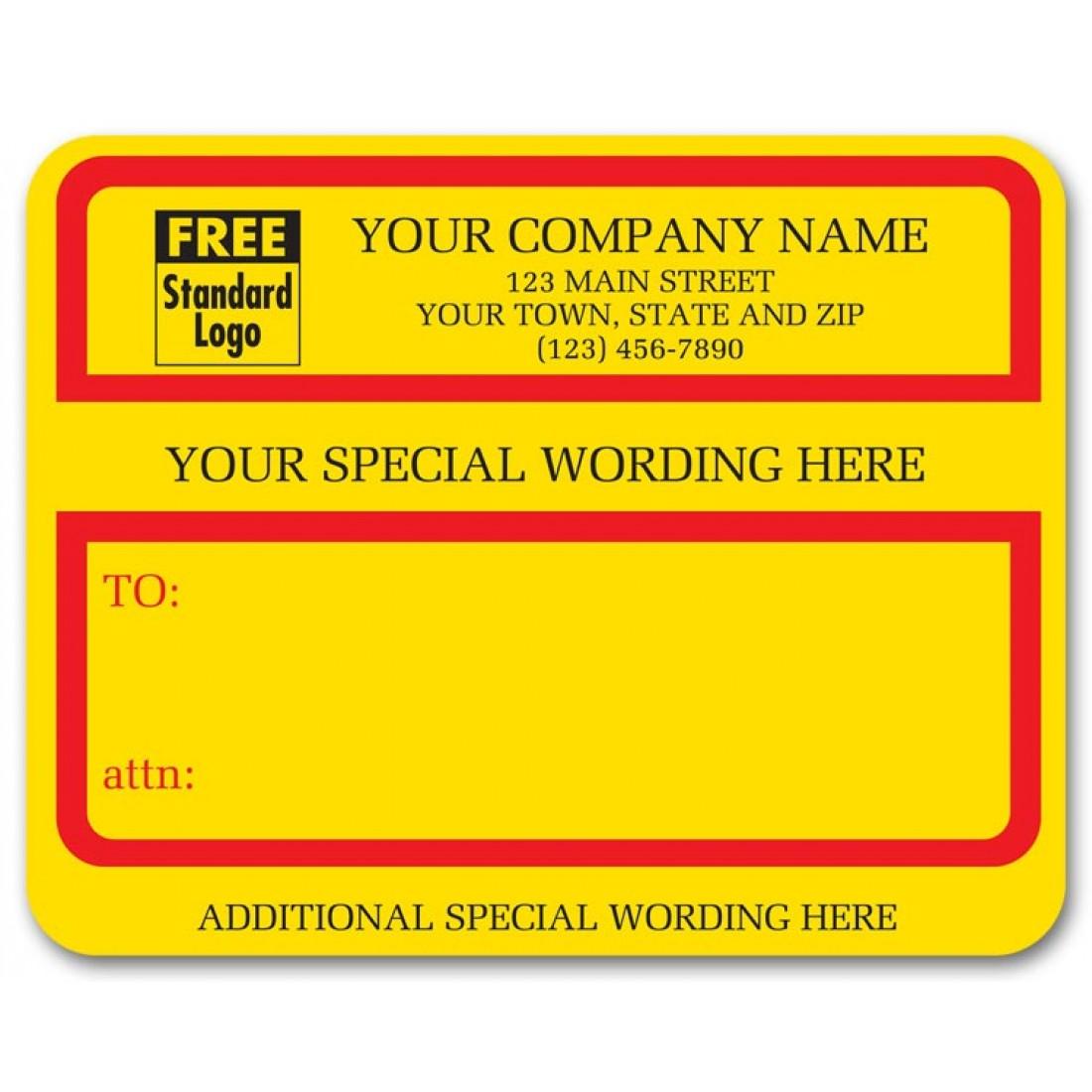 Specail Custom Wording Jumbo Labels
