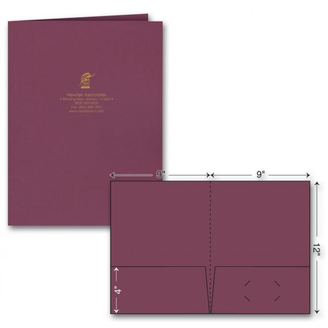 Standard Presentation Folder - Foil Imprint