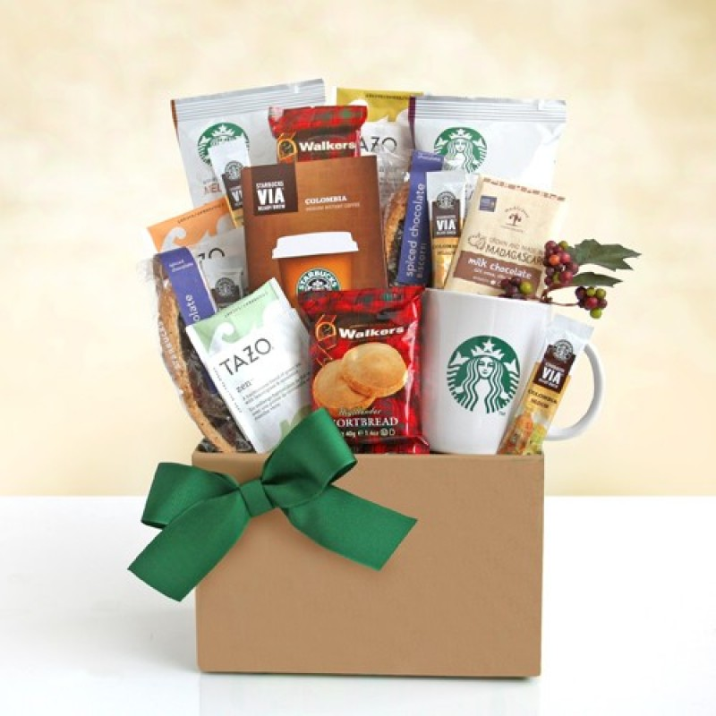 Starbucks thank you gift basket free shipping