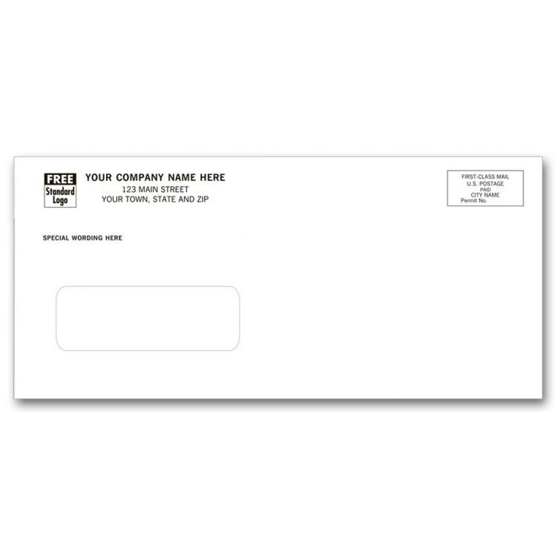 Stylish single window envelope free shipping for 10 window envelope size