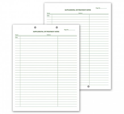 Supplemental & Treatment Notes Two Hole Punch
