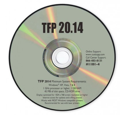 Tax Software - TFP 20.9 for Windows (TF1101) - Tools   - Tax Forms
