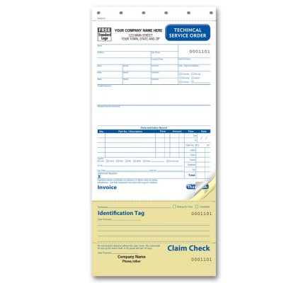 Technical Service Carbonless Business Forms