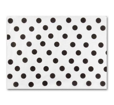 Tissue Paper, Bk Dots on Wht