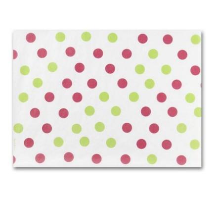Tissue Paper, Pk & Grn Dots