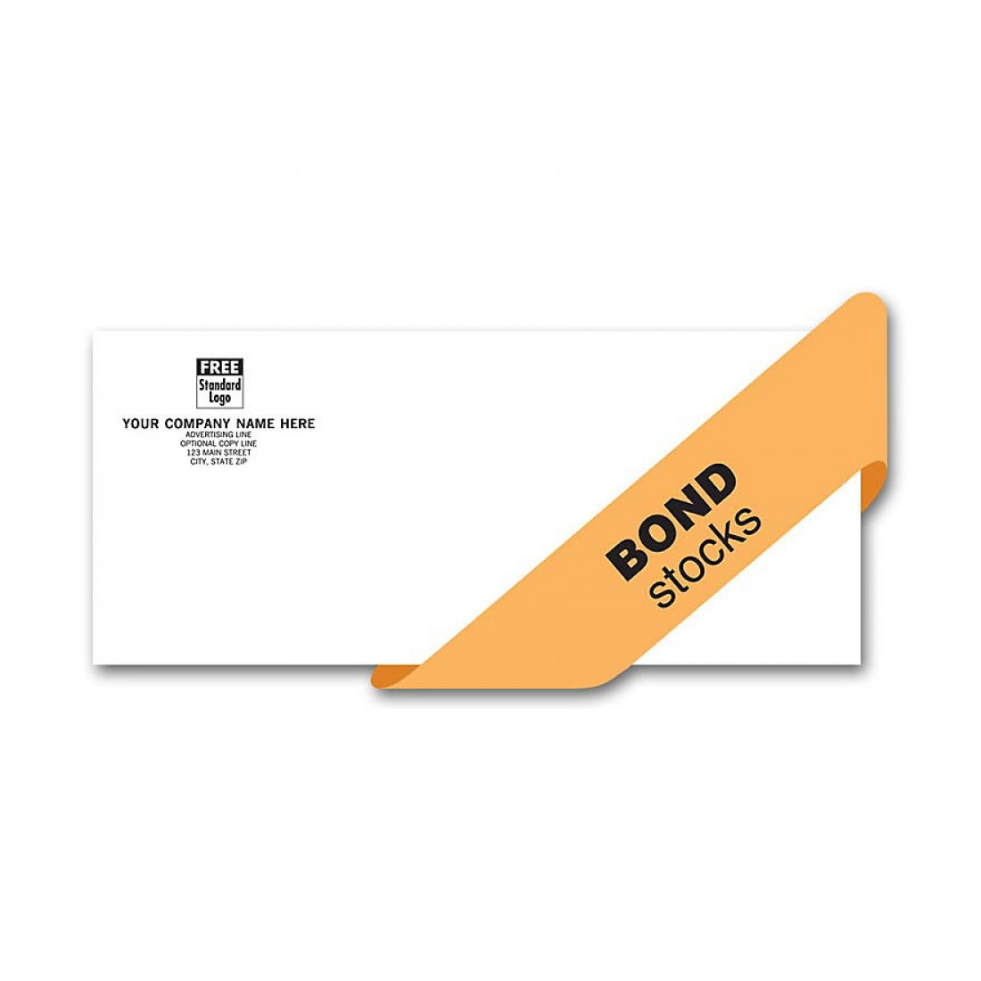 Value Envelope, Self Seal, 1 Or 2 Ink Colors, Bond Stocks