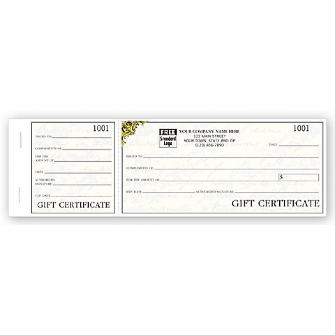 Vienna Gift Certificates, Booked Sets, Elegant Writing