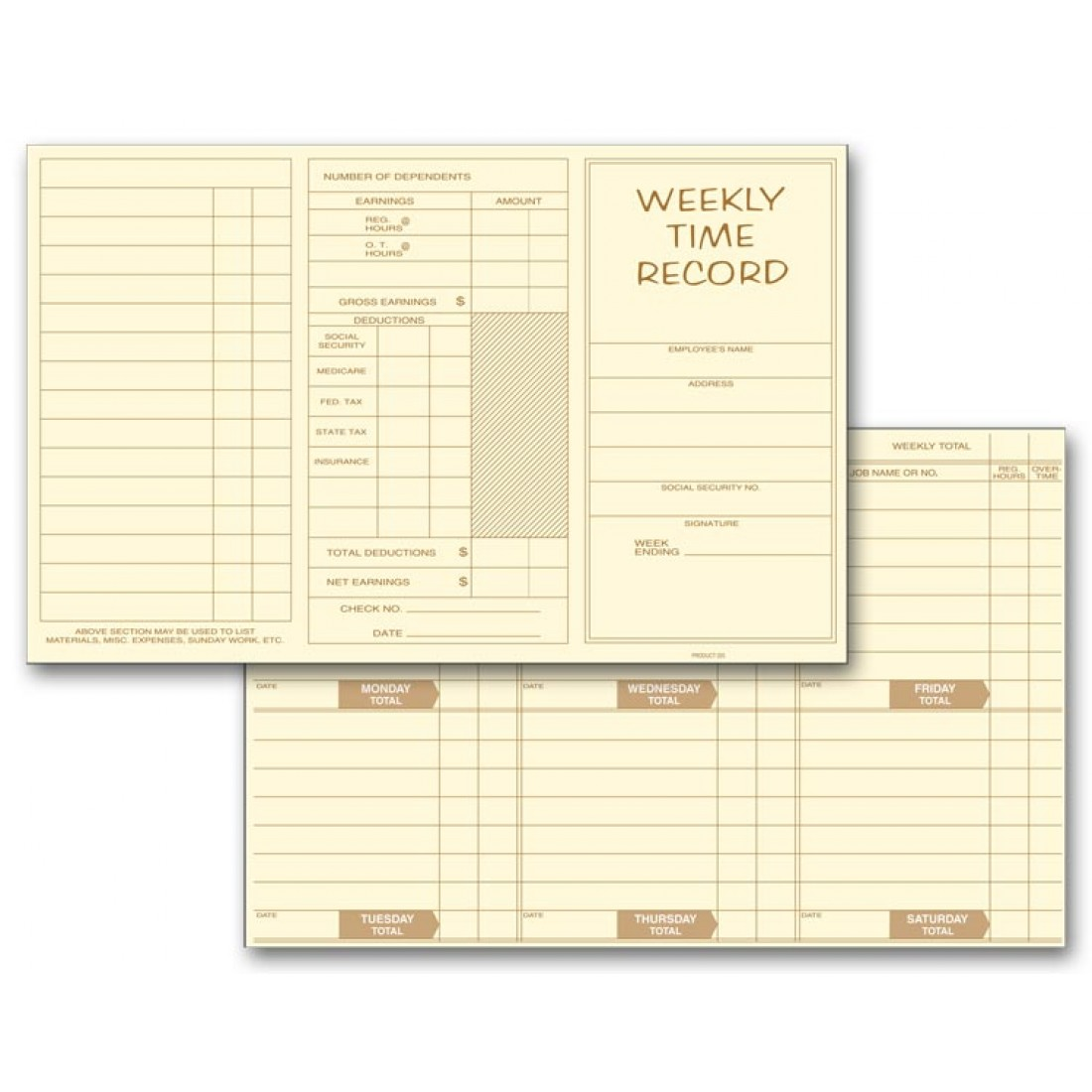 printable monthly time card template