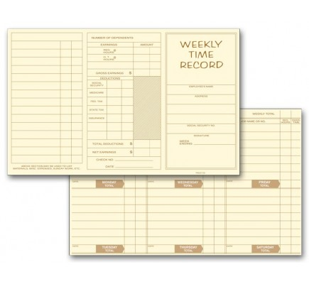 Weekly Employee Time Cards