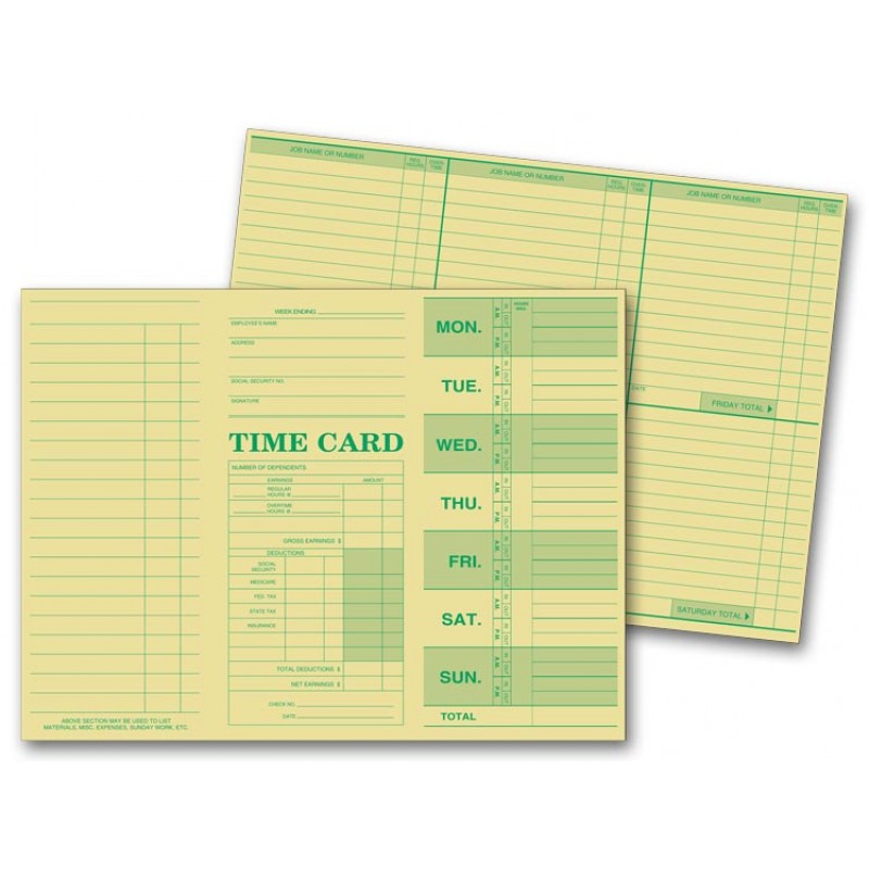 weekly employee time sheets 225 at print ez