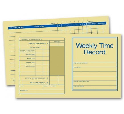 Weekly Time Record Cards