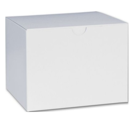 White 1PC Gift Box 6x4.5x4.5