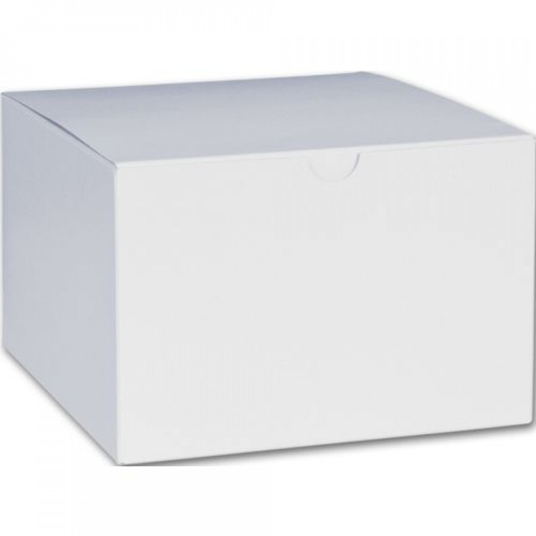 White 1PC Gift Box 6x6x4""