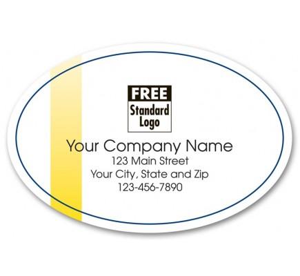 White Oval Marketing Label
