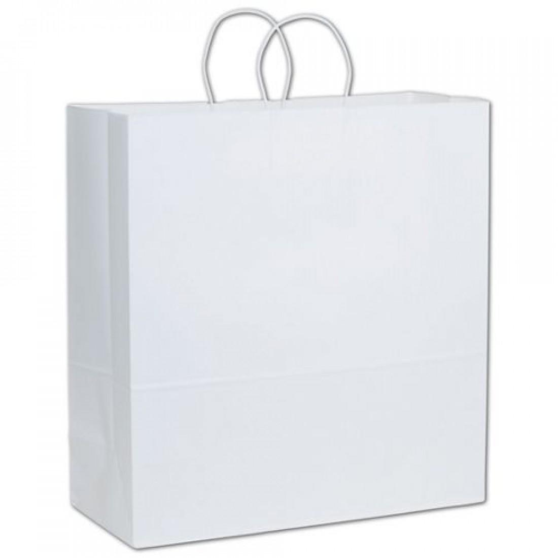 White Paper Shoppers Jumbo, 18 x 7 x 19