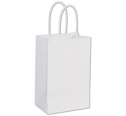 White Papr Bag 5.25x3.5x8.25