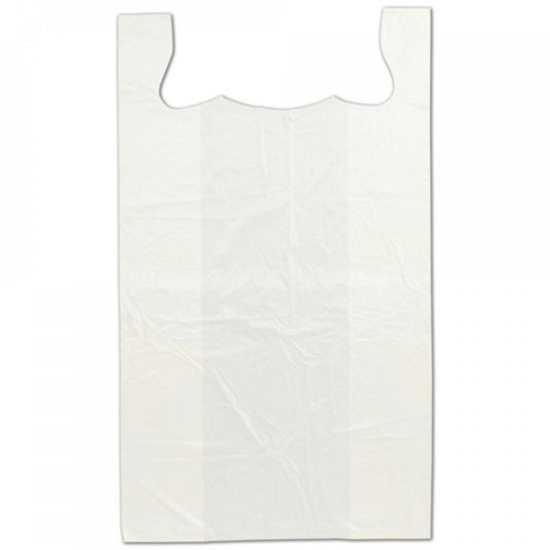 "White T-Shirt Bags 18x9x32"""