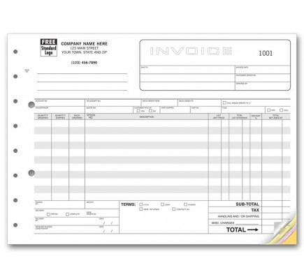 Wholesale Invoice Forms