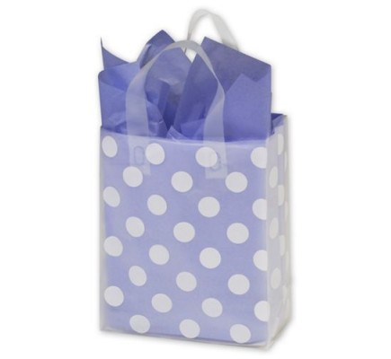 Wht Dot Clr Frstd Bag 8x4x10
