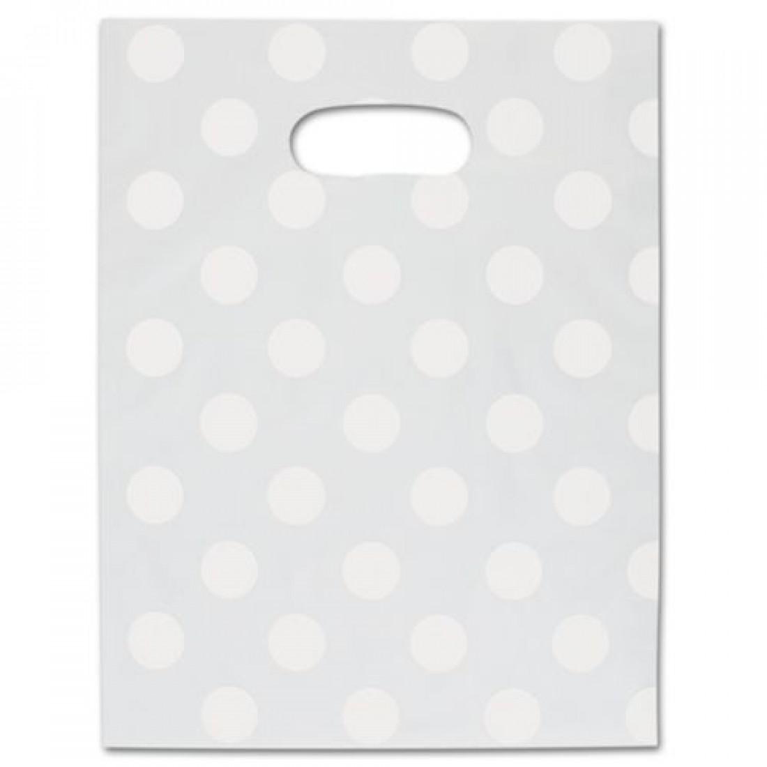 Wht Dot Frstd Merch Bag 9x12