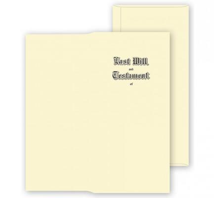 Will Envelopes, Engraved, Ivory