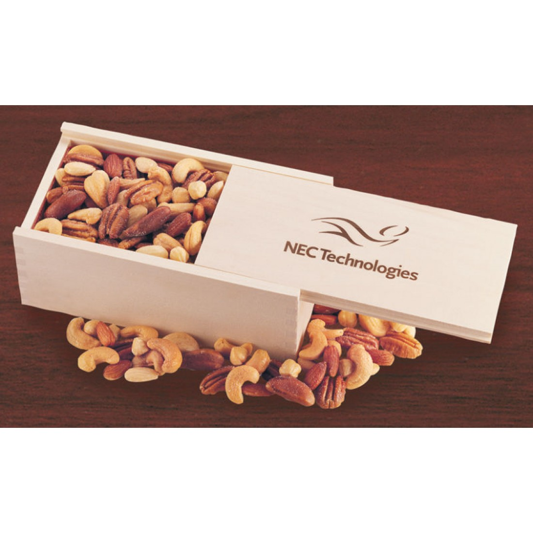 Wooden Collector's Box with Deluxe Mixed Nuts